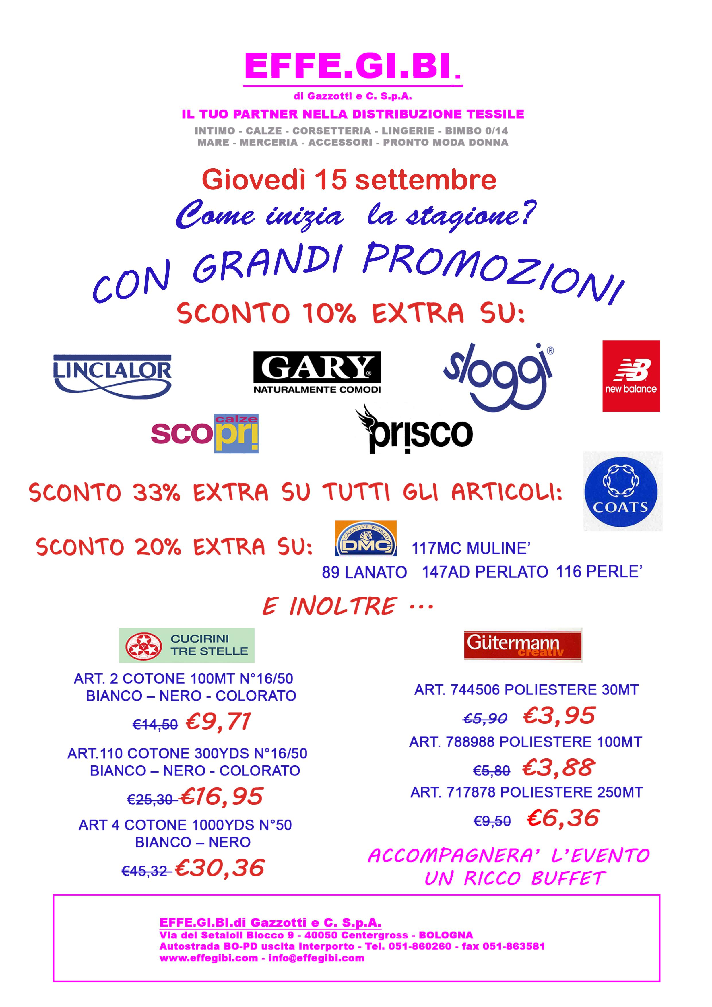 Thursday 15 September, Great deals in our store !