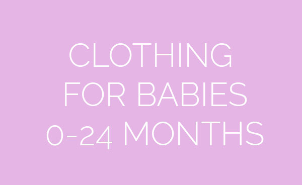 Clothing for babies 0-24 months