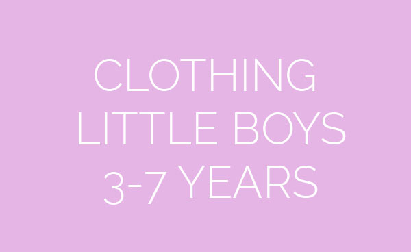 Clothing for little boys 3-7 years